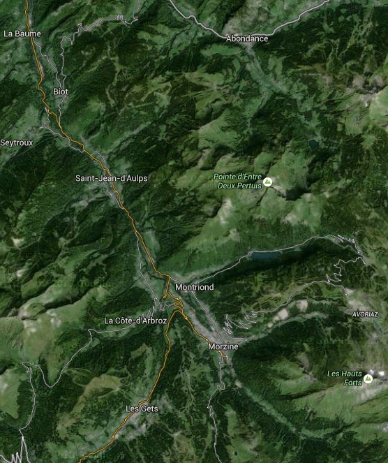 Google Earth of Morzine Les Gets