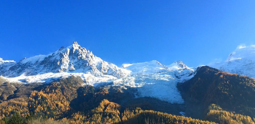 Aguille du Midi and Bossons Glacier