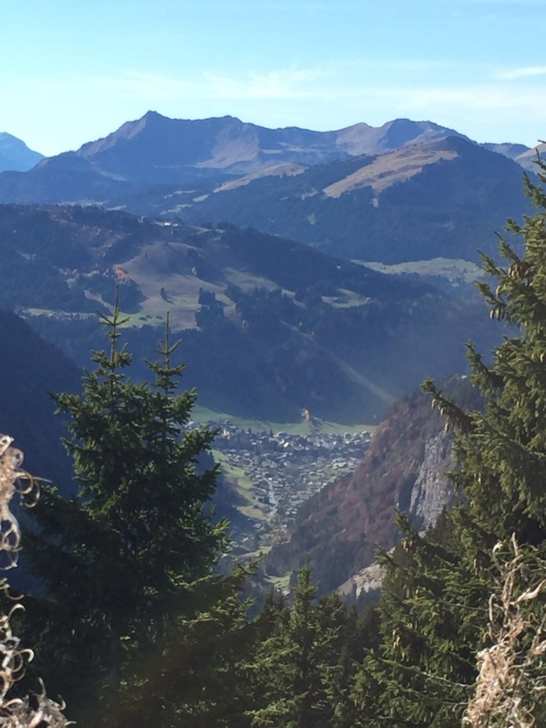Morzine recce - Day 2 - View of Morzine from Avoriaz