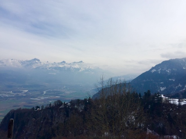 Rhone Valley from road to Torgon