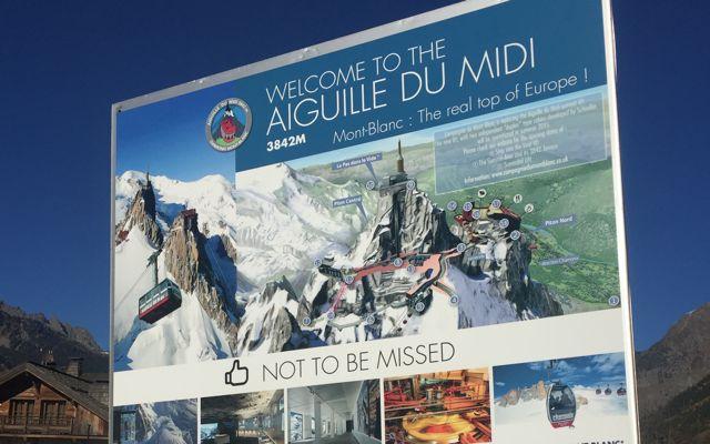 Aguille Du Midi Sign