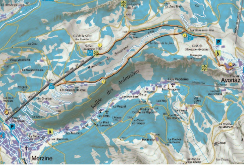 Snowshoeing to Avoriaz