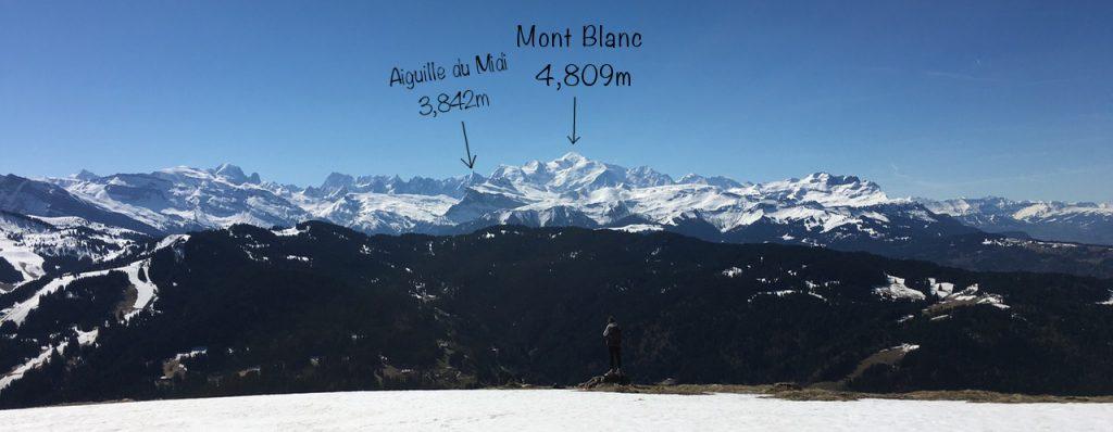 Aiguille du Midi from Mont Chery, Les Gets