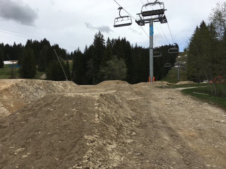 Les Gets Bike Park construction 2016