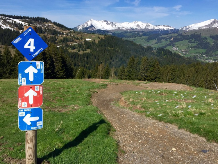 Mountain bike trails, Les Gets 2016