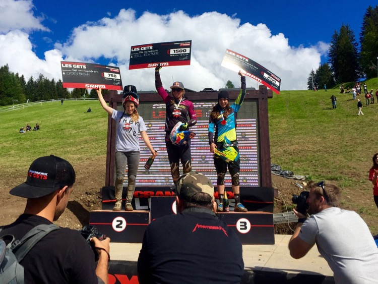 Jill Kiltner taking top spot in the Crankworx 2016 Women's Dual Slalom.