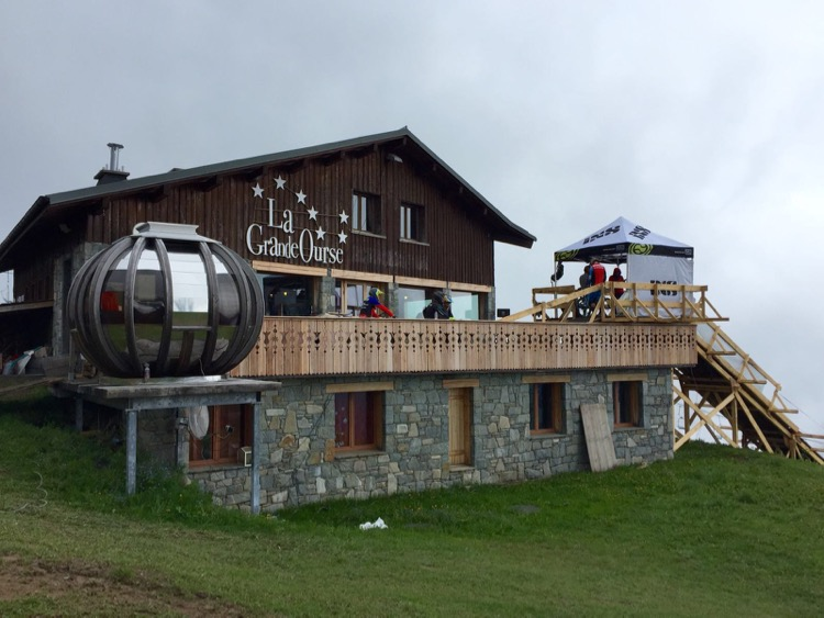 Start of Crankworx 2016 downhill course at La Grande Ourse Restaurant.