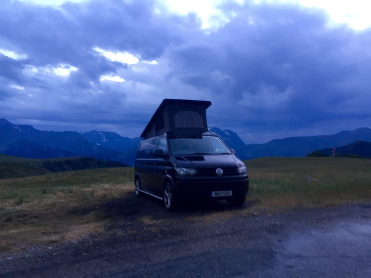 Moody skies before bedtime near L'Alpe d'Huez.