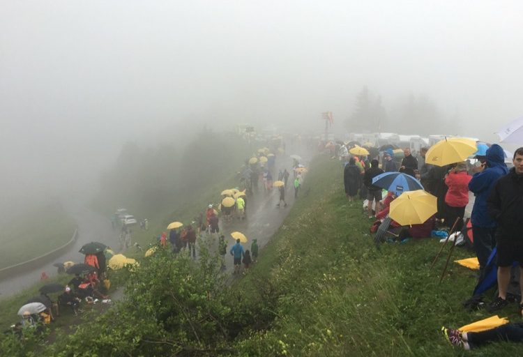 Seriously soggy Tour De France 2016 at the Col du Ranfolly