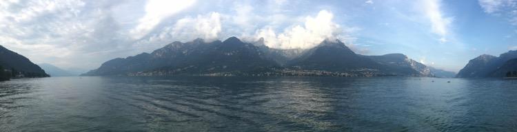 Lake Como from La Fornace campsite.