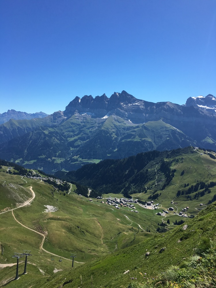 Dents du Midi from the top of Pointe du Mossettes.