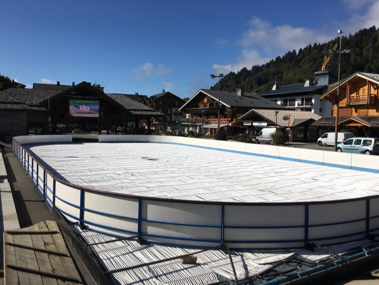 Ice rink in Les Gets. Just add ice!