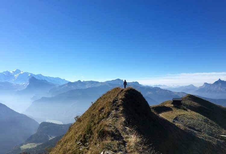 We squeezed in a quickie up the Pointe d'Angolon, 2090m