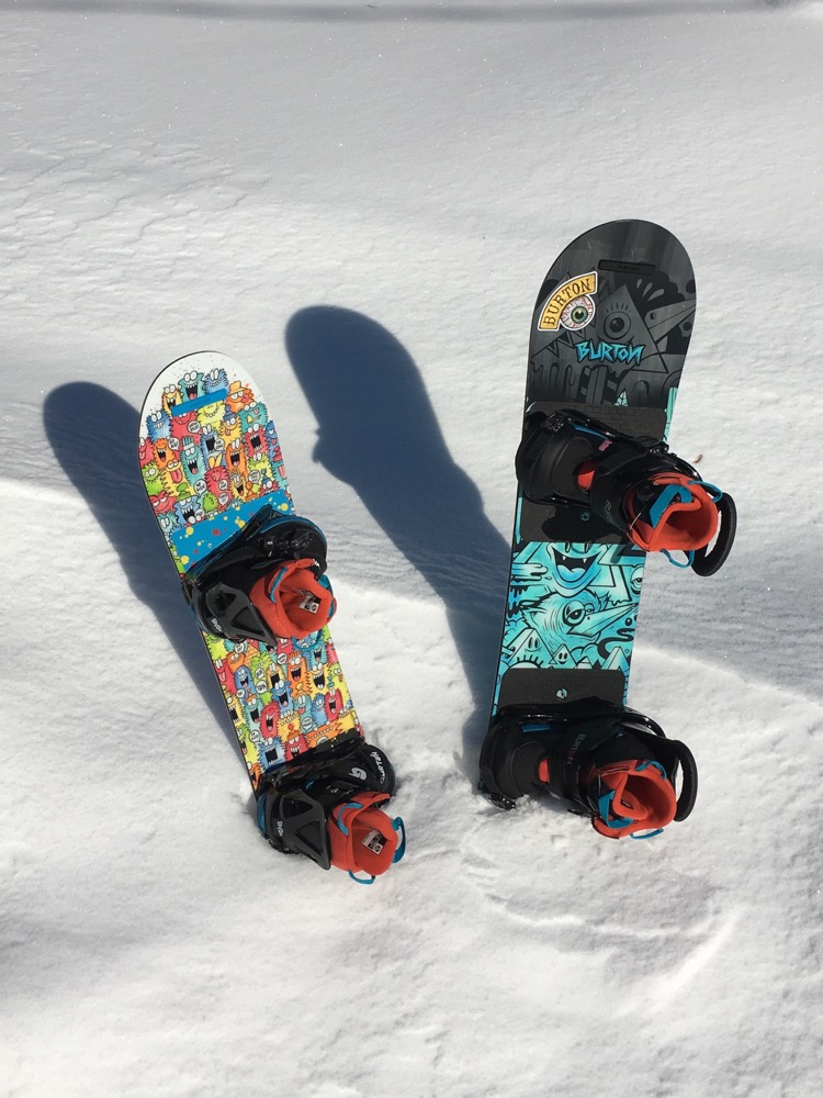 Burton Snowboards are our pick for best kids' snowboard kit. Just add kids ;)