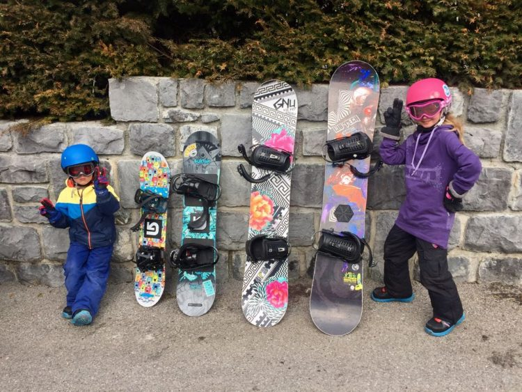 We also squeezed in a shred with the sprogs and this is them posing, obviously.