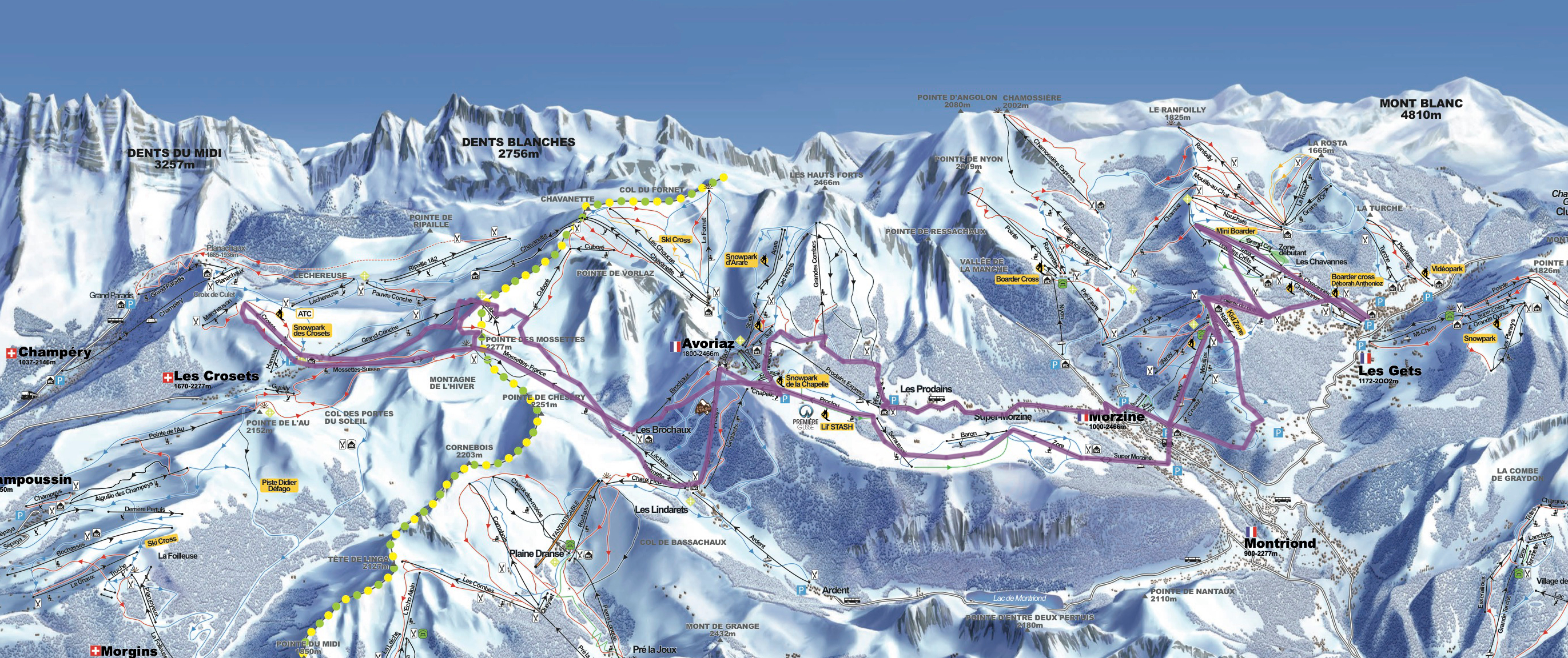 Our route on our family Swiss ski tour