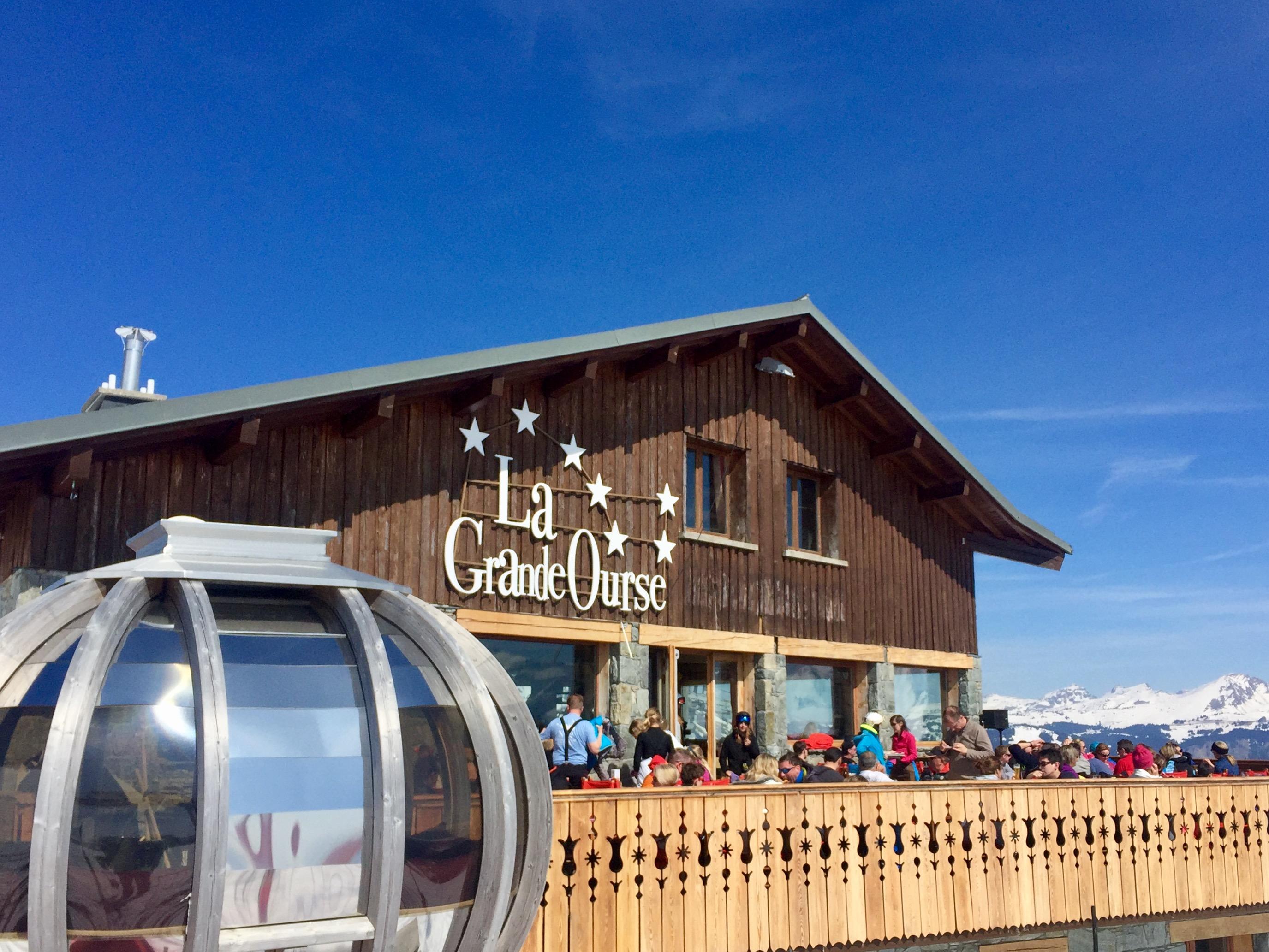 La Grande Ourse Restaurant, Mont Chery, Les Gets.