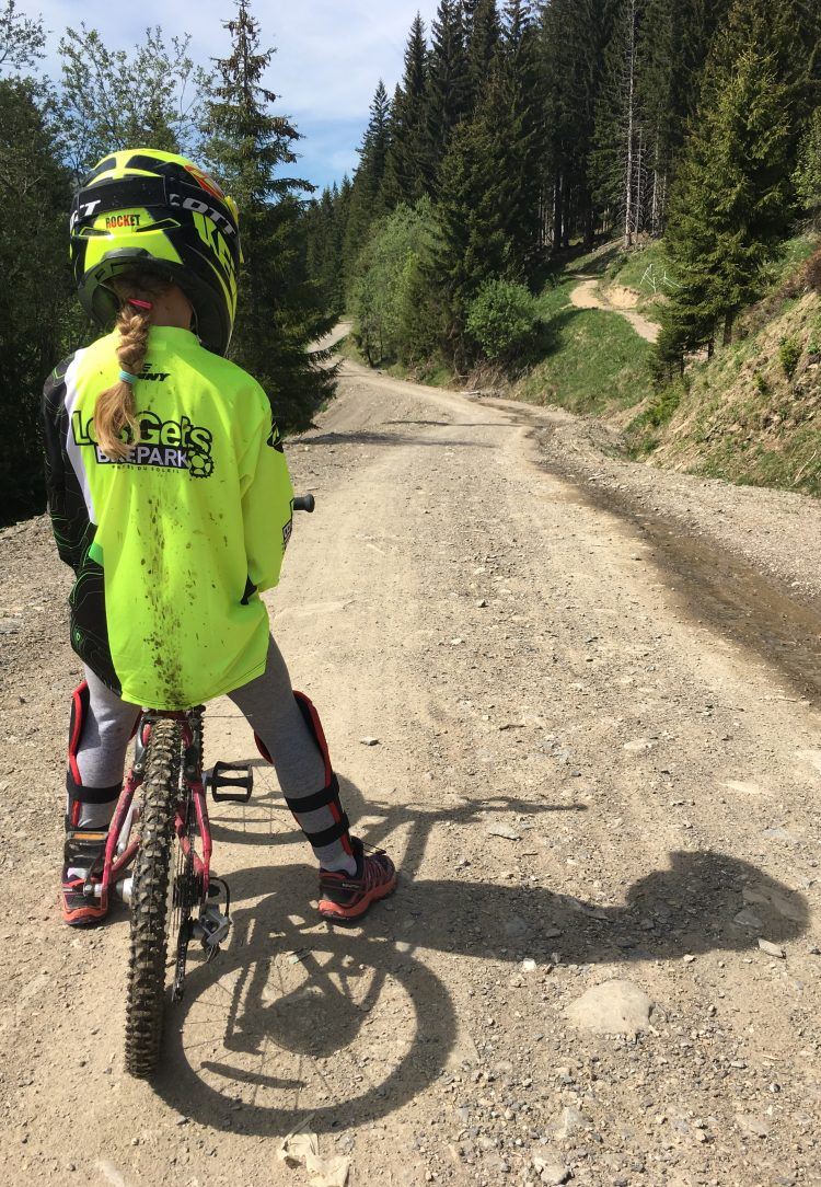 Opening day in Bike Park Les Gets 2017 and some new clobber to get covered in mud!