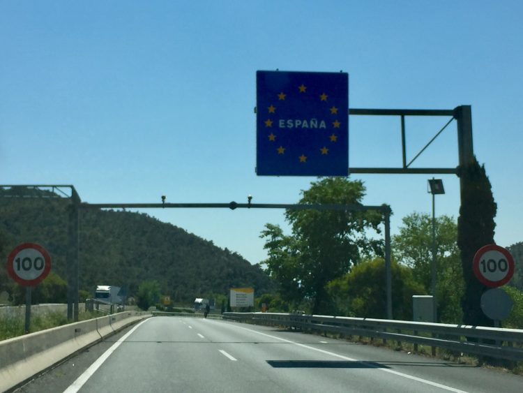 Crossing over the Spanish border, heading towards Roses and Sant Celoni.