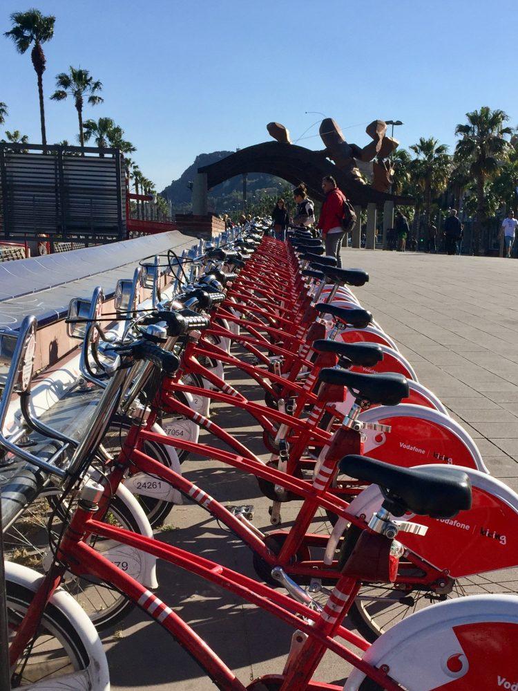Barcelona bikes.