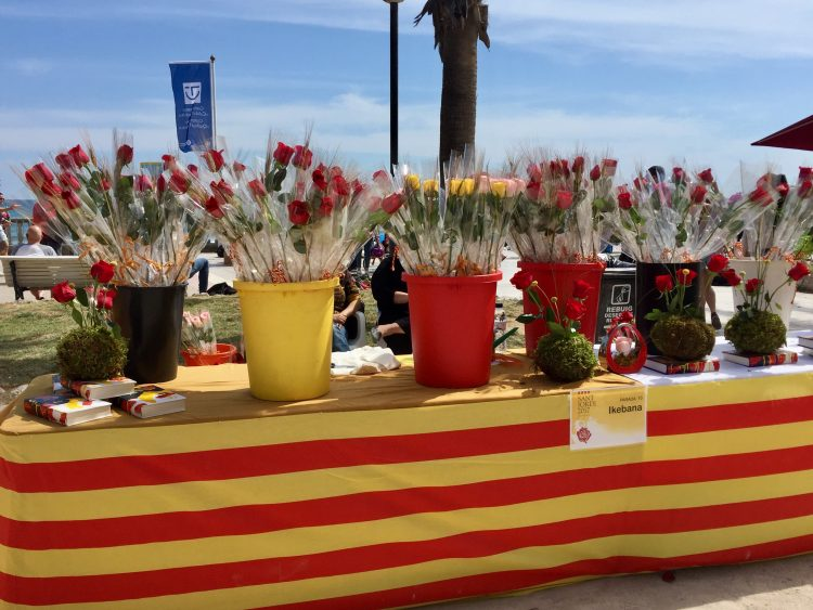 St Jordi's day in Sitges and Barcelona.