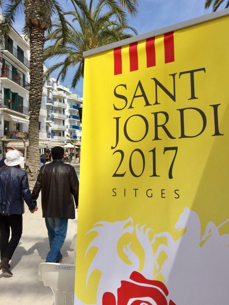 Sant Jordi 2017 in Sitges, Barcelona.