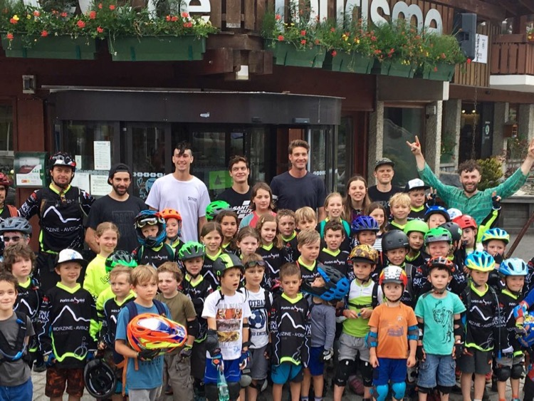 The kids from bike club got to meet some of the world's top mountain bikers on Wednesday