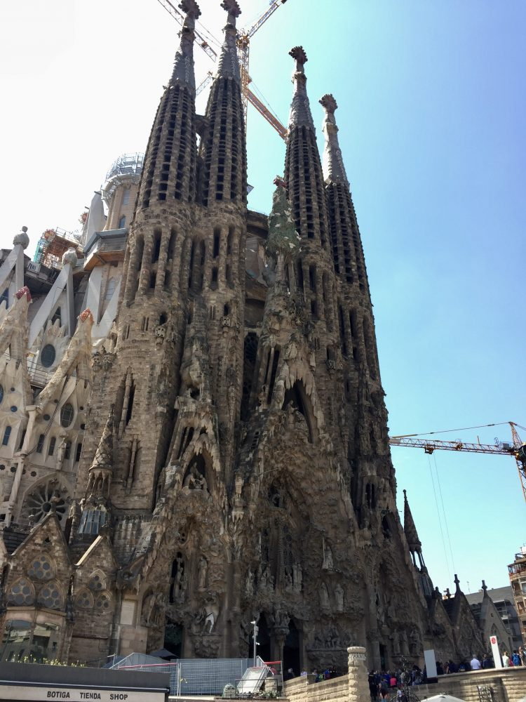 Renovation works are near constant on the Sagrada Família, Barcelona (construction is scheduled to be completed in 2026).