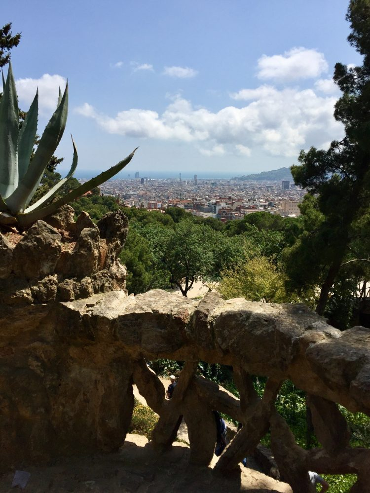 A view over Barcelona from Parc Guell.