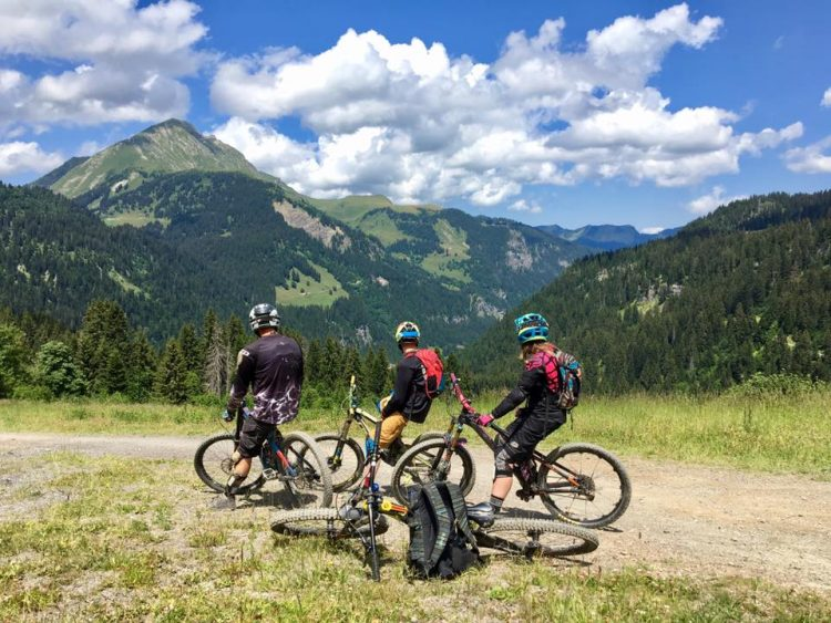 Mountain biking in the Portes du Soleil