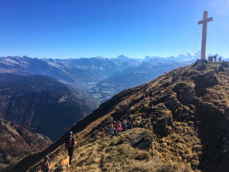 With views as far as Mont Blanc, we chose a great day to tackle the ascent of the Pointe de Marcelly