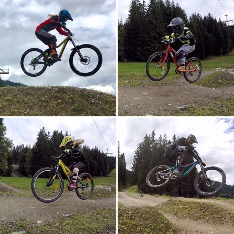 Up-Stix family airtime in Bike Park Les Gets, Portes du Soleil