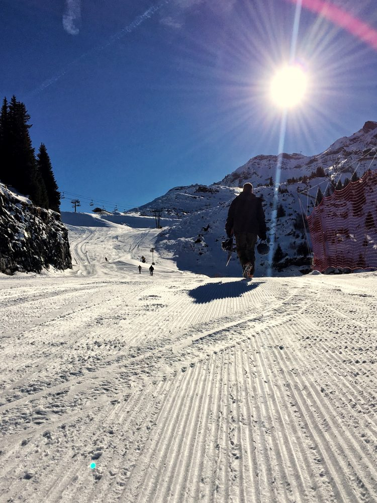 Earning our turns in Avoriaz