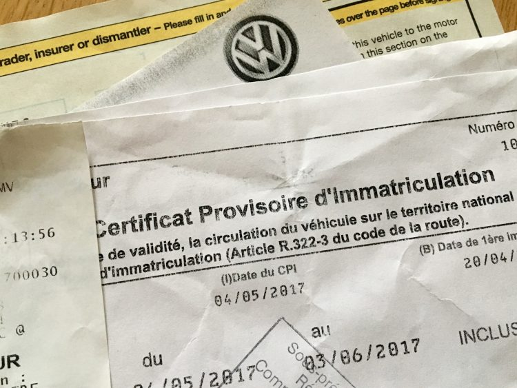 Carte Grise paperwork - Registering your vehicle in France
