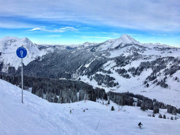 Conditions were superb during the first weekend of partial openings in the Portes du Soleil 2017.