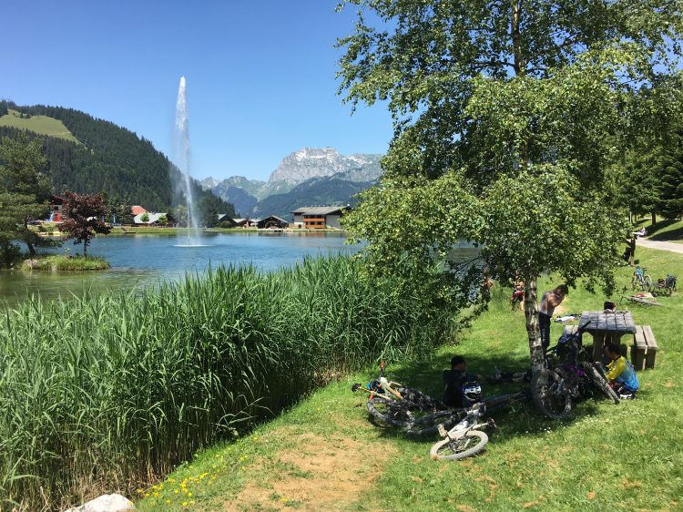 The stunning view from the Châtel food stop on the Passportes du soleil.