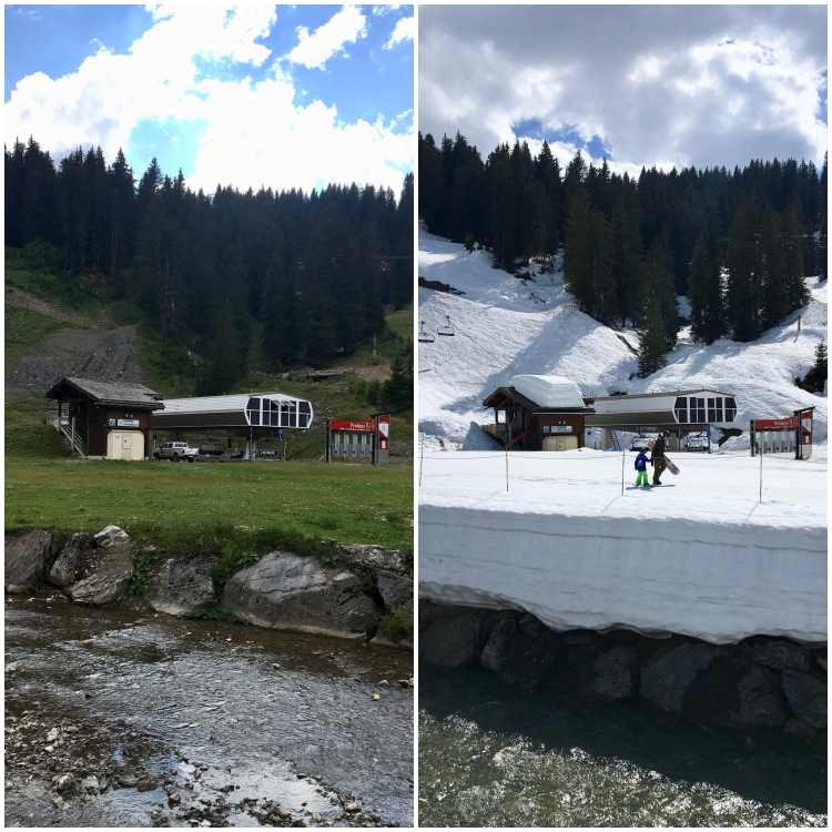 Prolays lift in Lindarets in summer and winter.