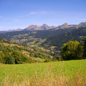 Les Gets Village from Mont Caly haute Savoie Landscape photograph Up-Stix