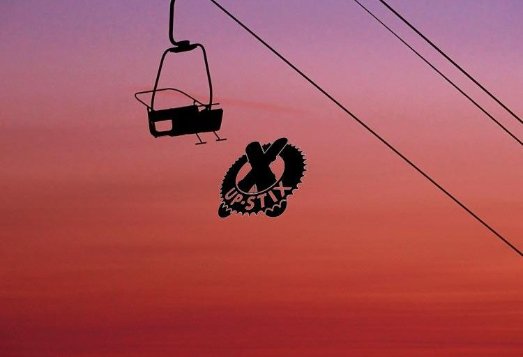 'La Point' chairlift, Nyon under the summer skies of Morzine, Portes du Soleil.