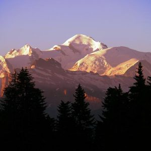 Mont Blanc sunrise photograph Les Gets upstix images