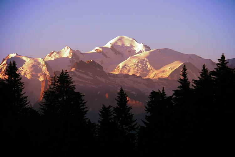 Mont Blanc Sunrise from Les Gets Up-Stix photography