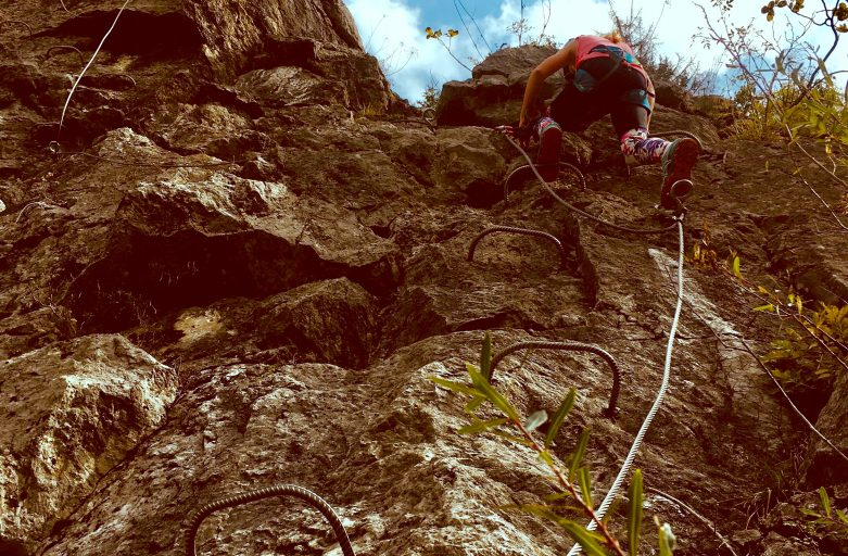 Via Ferrata – Great fun and once you've got the kit… It's FREE!