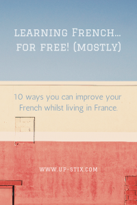 Learning French for free Up-Stix