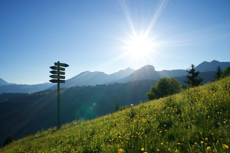 La Renardière Les Gets ski run Summer Sunrise Photograph Up-Stix