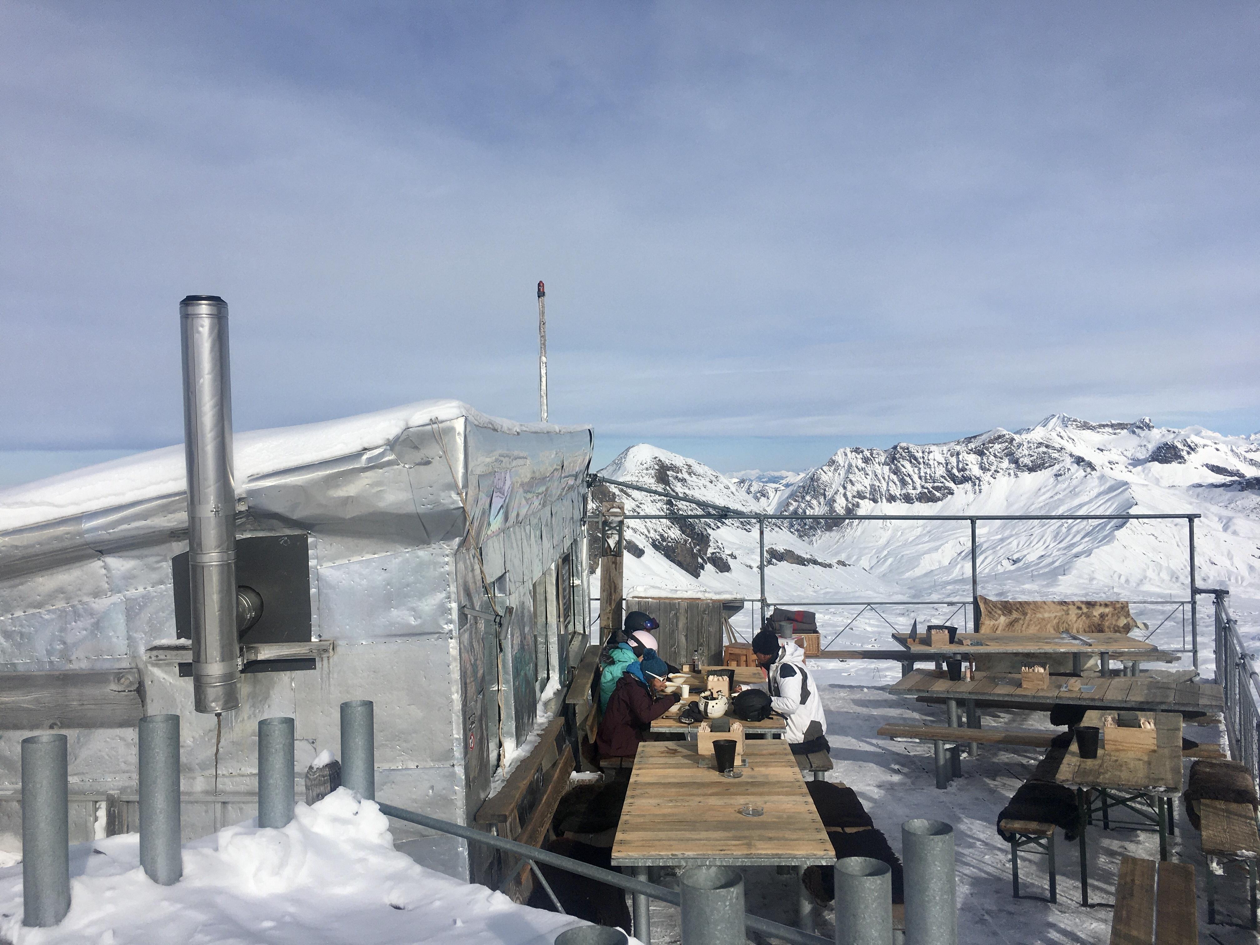 Refuge L'Espace, Glacier 3000.