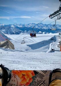 Getting our early season ski fix at Glacier 3000, Switzerland.