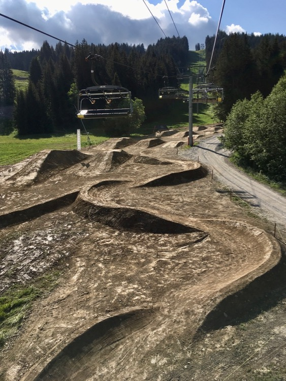 Skills park was looking good for opening day in Les Gets Bike Park.