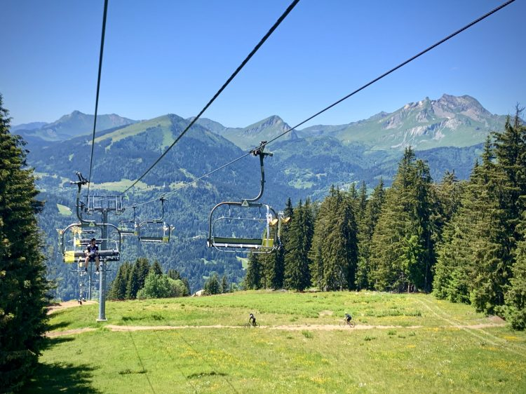 Zore chairlift super morzine up-stix summer mountain biking