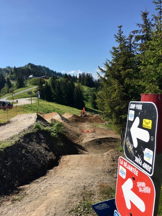 Big changes in the Bike Park at the top of Nauchets, Les Gets.