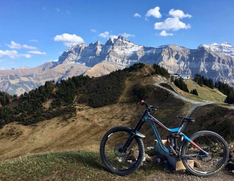 Up-Stix Mountain biking in the Portes du Soleil in October.